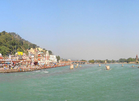 Panoramic of har ki pauri view2