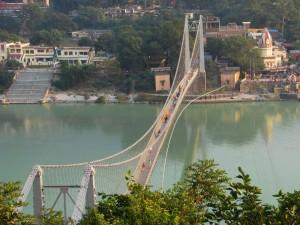Ramjhula   bridge over the Ganga