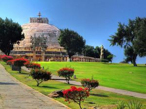 Sanchi Stupa distant view