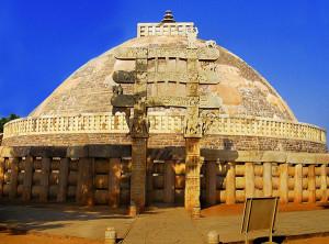 Sanchi Stupa from Eastern gate Madhya Pradesh