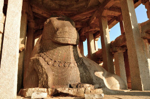 Stone Monolithic Nandi Bull Hampi