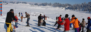learning skiing in kashmir